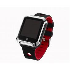 """Умные GPS-часы-телефон FindMyBaby """"Школьник Спорт"""" Черный+Красный"""