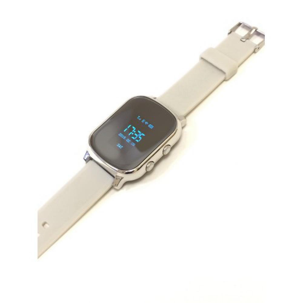 """Умные GPS-часы-телефон FindMyBaby """"Школьник"""" Серебристые."""